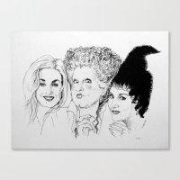 hocus pocus Canvas Prints featuring Hocus Pocus by Olivia Michaels