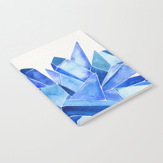 Sapphire Watercolor Facets Notebook