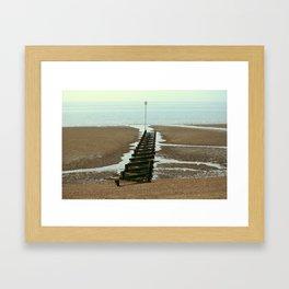 Heacham Groins 1/2 Framed Art Print
