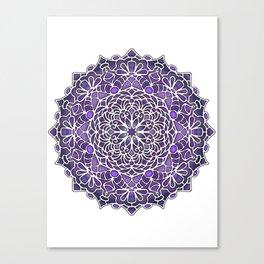 Eight Fold Mandala 6 in Purple Canvas Print