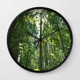 i want to be on the tops of all the trees Wall Clock
