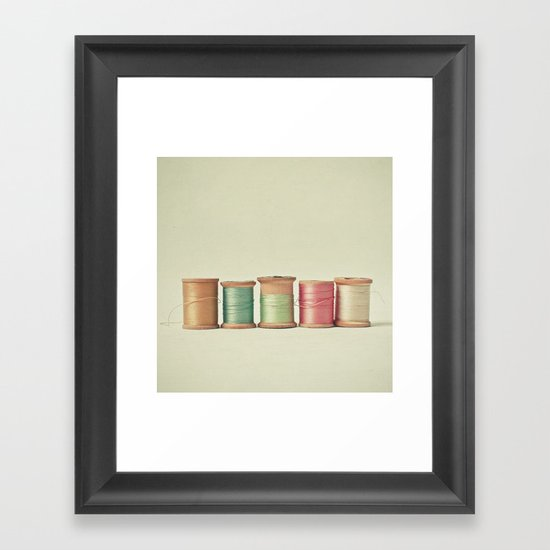 Five in a Row Framed Art Print