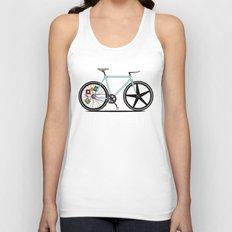 Fixie Bike Unisex Tank Top