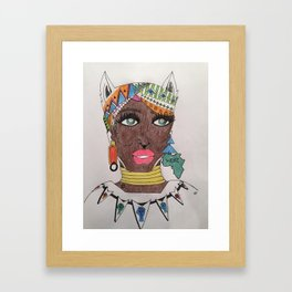 The Black Panther is Female Framed Art Print