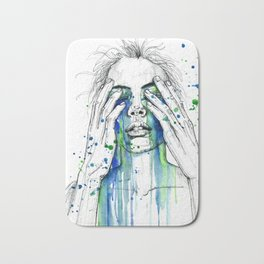 Don't fight my tears 'cause they feel so good. Bath Mat