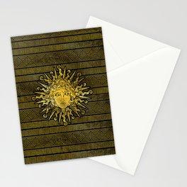 Apollo Sun Symbol on Greek Key Pattern Stationery Cards