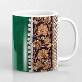 -A11- Tradtional Textile Moroccan Green Artwork. Coffee Mug