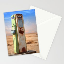 Old Gas Pump in Desert Stationery Cards