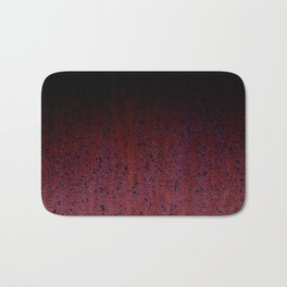 Red Brown Black Ombre Rust Metal Patina Bath Mat