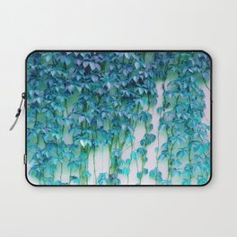 Average Absence, Botanical Minimal Nature Creepers Plants, Tropical Watercolor Bohemian Painting Laptop Sleeve