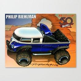 Hot Wheels Dark Blue T1 Bus Rockster Dragster Poster Trade Print Canvas Print
