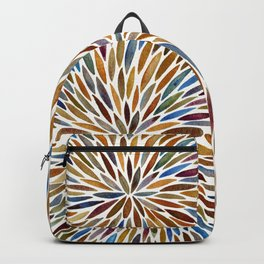 Watercolor Burst – Retro Palette Backpack
