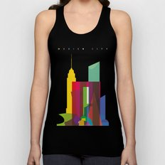 Shapes of Mexico City accurate to scale Unisex Tank Top