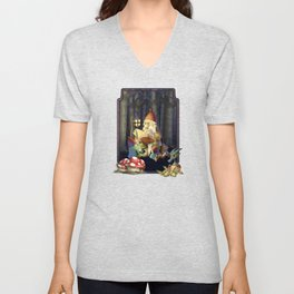 Father Gnome Story Time Unisex V-Neck