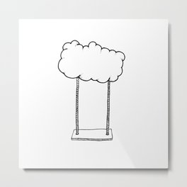 Cloud Swing Metal Print