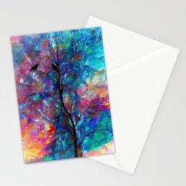 Love Birds Abstract #society6 #decor #lovebirds by Lena Owens @OLena Art Stationery Cards