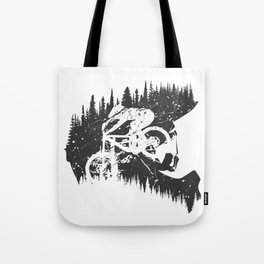 Black Fullface Tote Bag