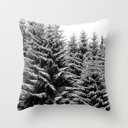 snowy christmas TREES Throw Pillow