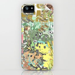 Bird Grid Paste Up iPhone Case