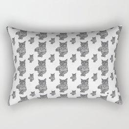 Zentangle Cat Rectangular Pillow