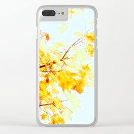 Yellow Maple leaves, Autumn Unfolds Clear iPhone Case