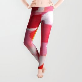 Lovely Colors of You - Red Abstract Pattern Leggings