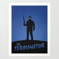 terminator Art Prints featuring Terminator by Nick Kemp