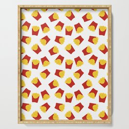FRENCH FRIES POMMES FAST FOOD PATTERN Serving Tray