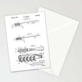 patent art Brown Toothbrush 1939 Stationery Cards