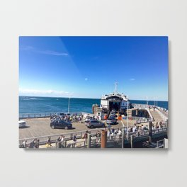 Ferry from Nantucket to Martha's Vineyard Metal Print