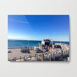 Ferry from Nantucket to Martha's Vineyard Metal Print