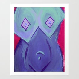 Cubist Bodice (Purple) Art Print