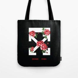Broken Roses Off White Tote Bag