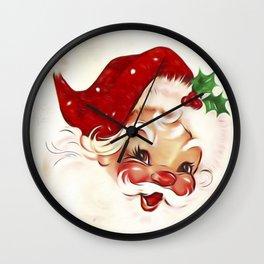 Vintage Santa 4 Wall Clock