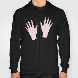 Pastel Manicured Hands Pattern Hoody