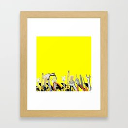 Yellow Tools Framed Art Print