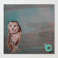 the who Canvas Prints featuring Who??? by C.BENNETT