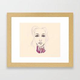 Lover not a Fighter Framed Art Print