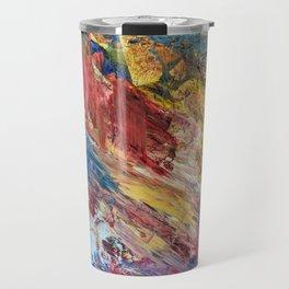 Abstract Oil and Metal Travel Mug