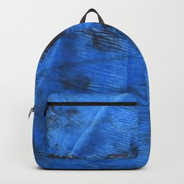 Bright navy blue abstract watercolor Backpack