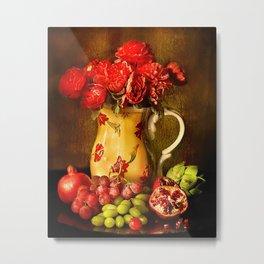Flower and fruit Metal Print