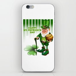 Saint PatricksDayLeprechaunGift Shirt iPhone Skin