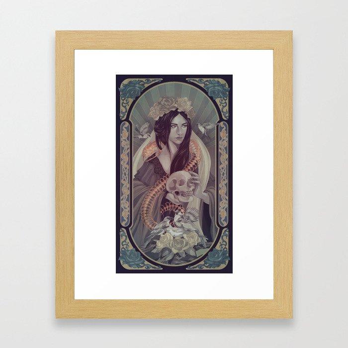 95c16f049d5a Rose Gold Framed Art Print by eevientan