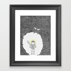 Brave Grey Warrior Framed Art Print