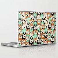 shiba inu Laptop & iPad Skins featuring Shiba Inu by Modify New York