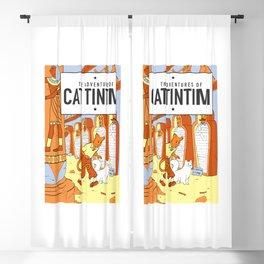 Belgian Comics Cat Tintim Blackout Curtain
