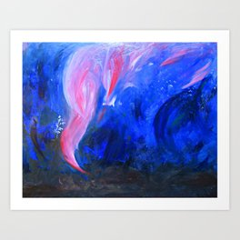 Signal fire. Art Print
