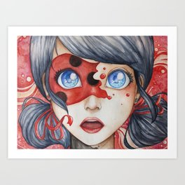Miraculous Ladybug Art Print