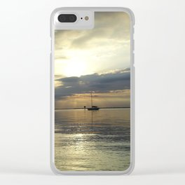 The Lonely Ship Clear iPhone Case