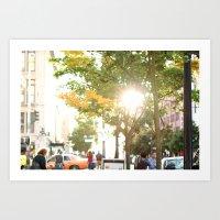Seattle in Fall Art Print